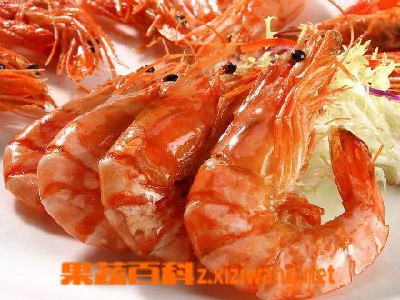 果蔬百科海虾的功效与作用