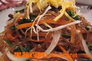 韩国杂菜的制作方法步骤和材料